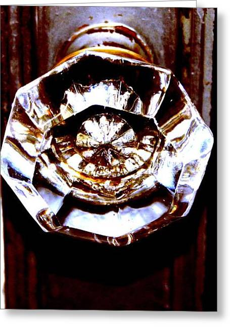 Glass Knob Greeting Card by Brenda Myers