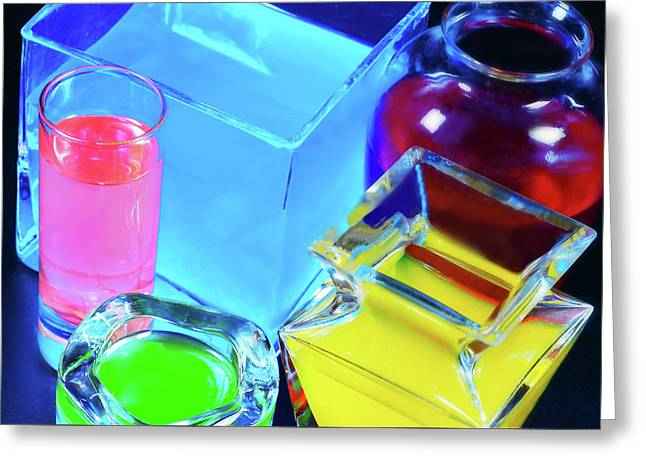 Glass Light And Color Greeting Card