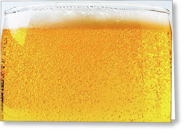 Glass Of Beer Greeting Card by Garry Gay
