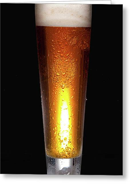 Glass Of Cold Beer Greeting Card