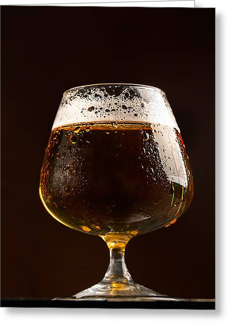 Glass Of Cold Beer Greeting Card by Vadim Goodwill