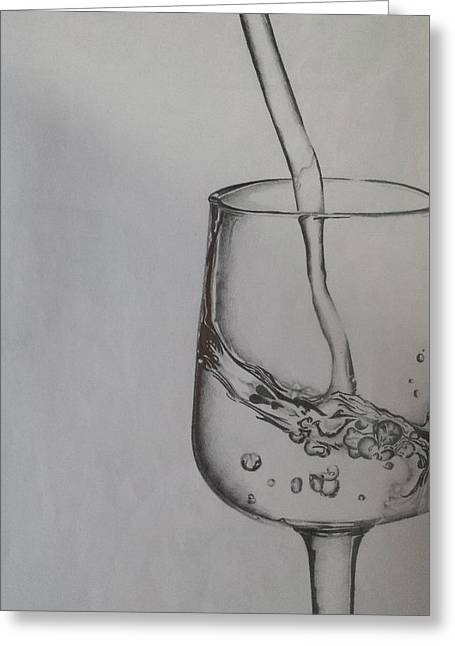 Glass Of Pure Water  Greeting Card