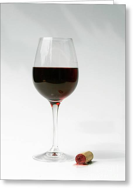 Glass Of Red Wine Greeting Card by Patricia Hofmeester