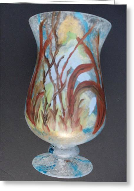 Vase Glass Greeting Cards - Glass painting 101  Greeting Card by Warren Thompson