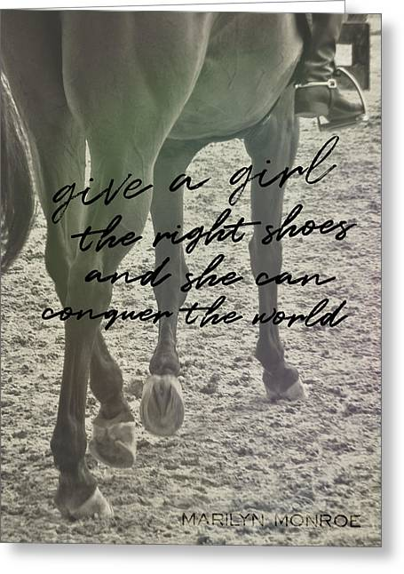 Glass Slipper Quote Greeting Card