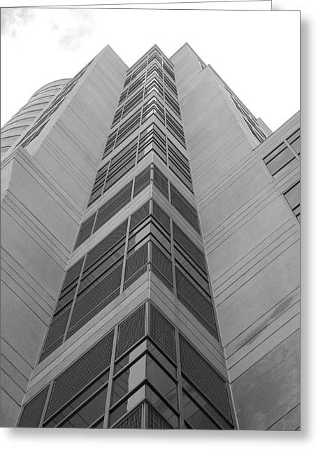 Greeting Card featuring the photograph Glass Tower by Rob Hans