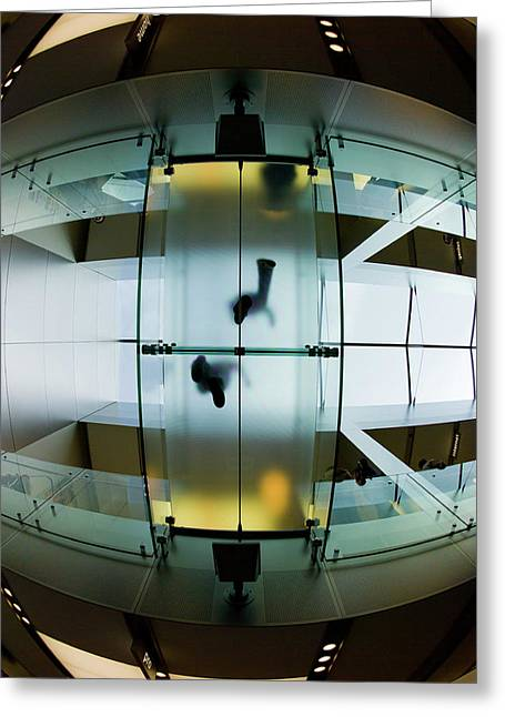 Glass Walkway Apple Store Stockton Street San Francisco Greeting Card