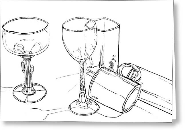 Glasses Greeting Card by Jean Haynes