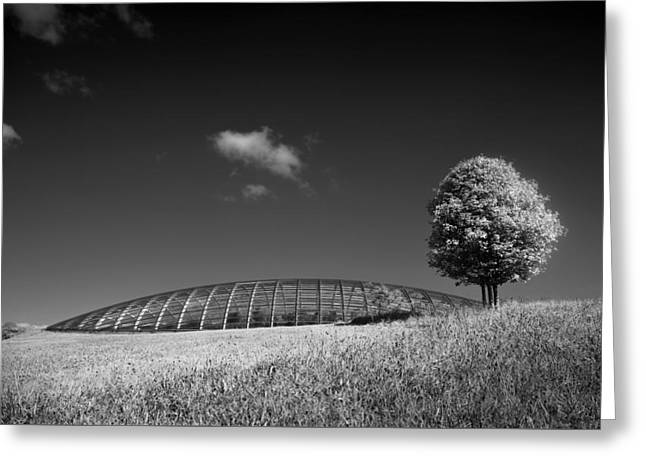 Glasshouse At The National Botanic Gardens, Wales Greeting Card