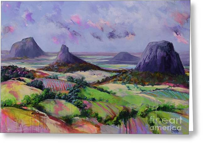 Glasshouse Mountains Dreaming Greeting Card