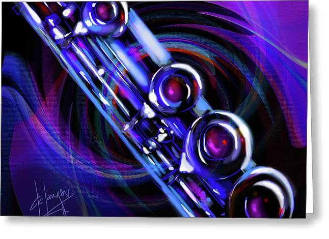 Greeting Card featuring the painting Glassical Flute by DC Langer