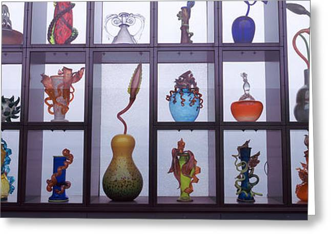 Glassware In A Museum, Museum Of Glass Greeting Card by Panoramic Images