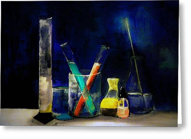 Glassware Of Science Greeting Card by Lisa Kaiser