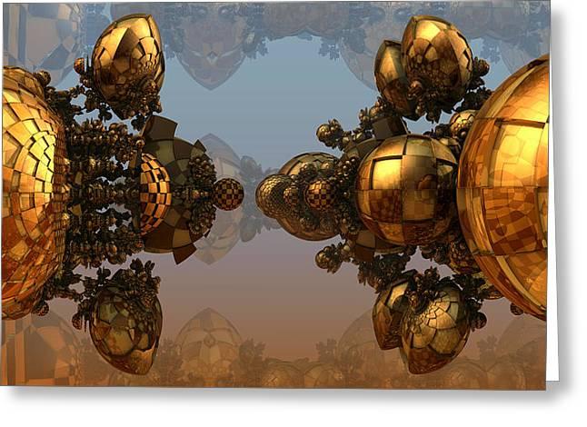 Glassy Balls Greeting Card by Konstantinos Goytzamanis
