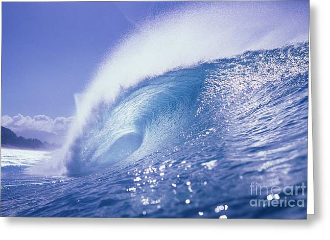 Glassy Wave Greeting Card by Vince Cavataio - Printscapes