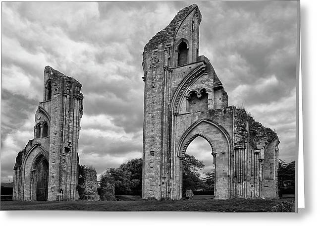 Greeting Card featuring the photograph Glastonbury Abbey by Elvira Butler