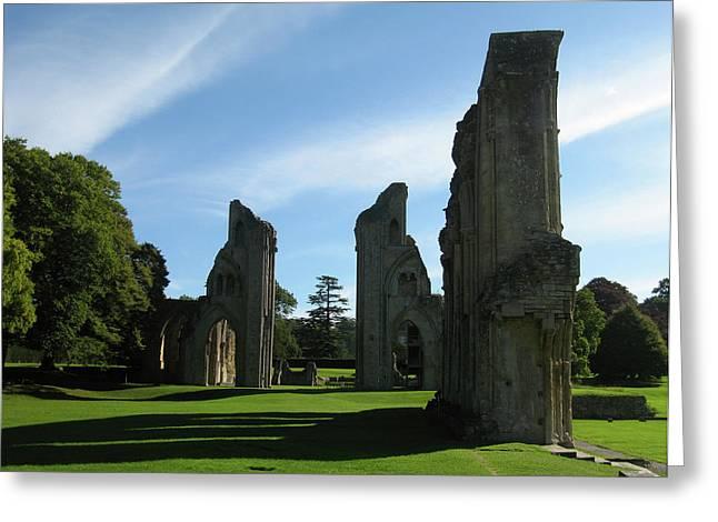 England Greeting Cards - Glastonbury Abbey 3 Greeting Card by Kurt Van Wagner