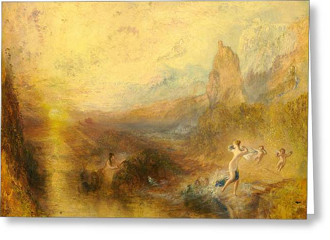 Glaucus And Scylla  Greeting Card by Joseph Mallord William Turner