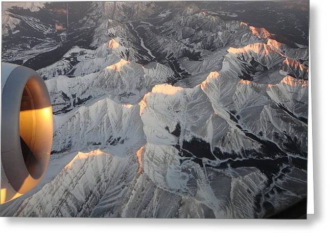 Gleaming Mountain Tops Greeting Card by Maureen Hanson