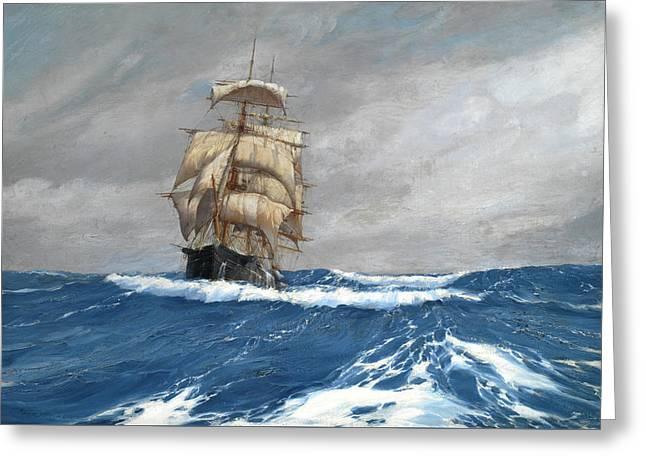 Gleaner At Sea Greeting Card