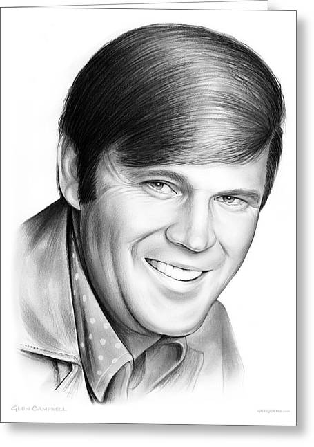 Glen Campbell Greeting Card by Greg Joens