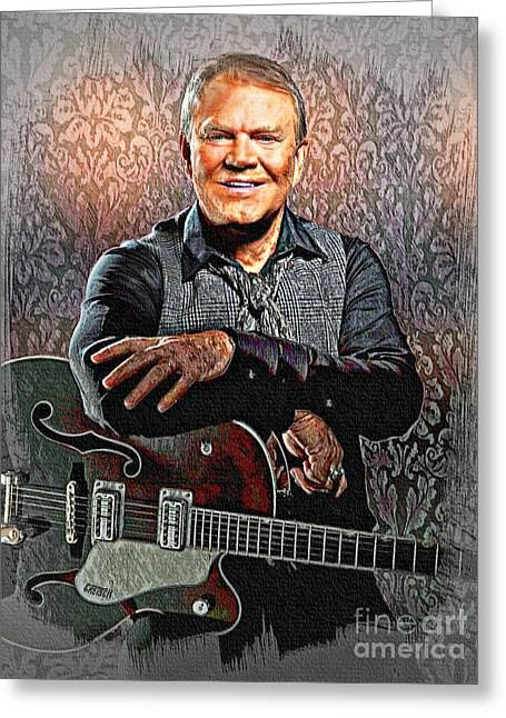 Glen Campbell - Singing Icon Greeting Card