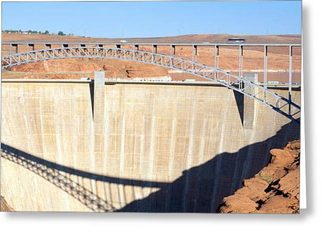 Glen Canyon Dam, Page, Arizona Greeting Card by Panoramic Images