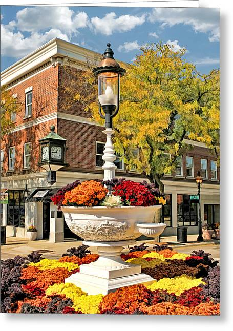 Greeting Card featuring the painting Glen Ellyn Watering Trough by Christopher Arndt