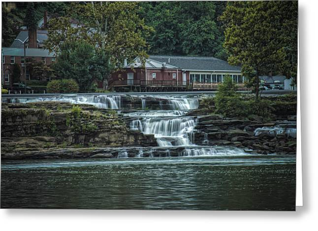 Glen Farris On The Falls Greeting Card