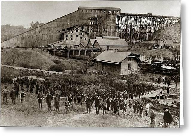 Glen Lyon Pa Susquehanna Coal Co Breaker Late 1800s Greeting Card