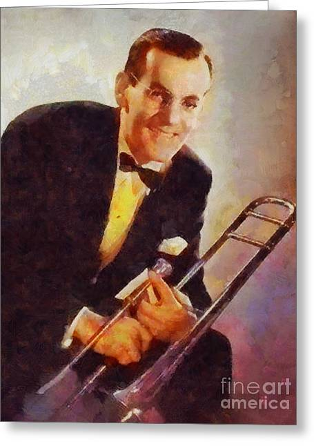 Glen Miller, Music Legend Greeting Card by Sarah Kirk