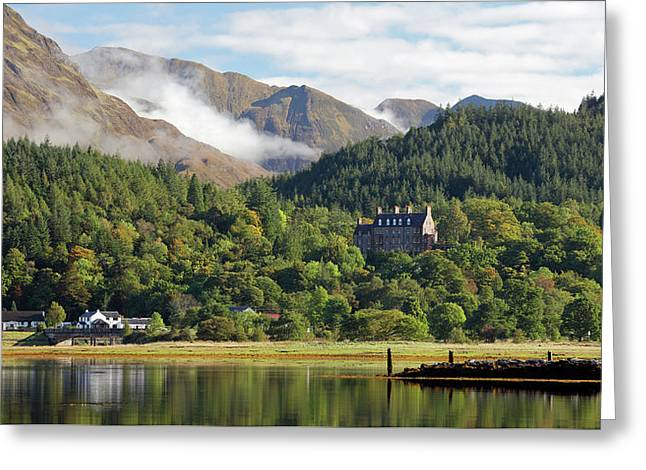 Greeting Card featuring the photograph Glencoe House Landscape by Grant Glendinning