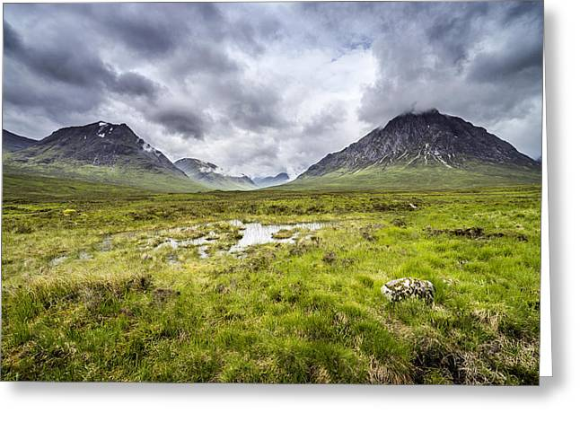 Greeting Card featuring the photograph Glencoe by Jeremy Lavender Photography