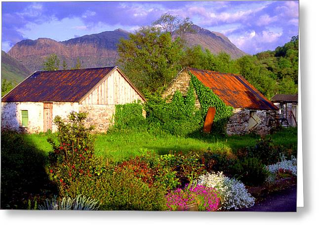 Glencoe Village Greeting Card by John McKinlay