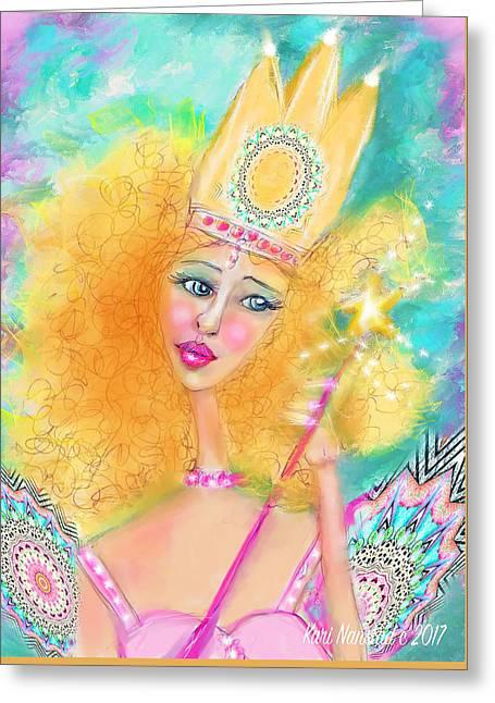 Glenda Greeting Card by Kari Nanstad