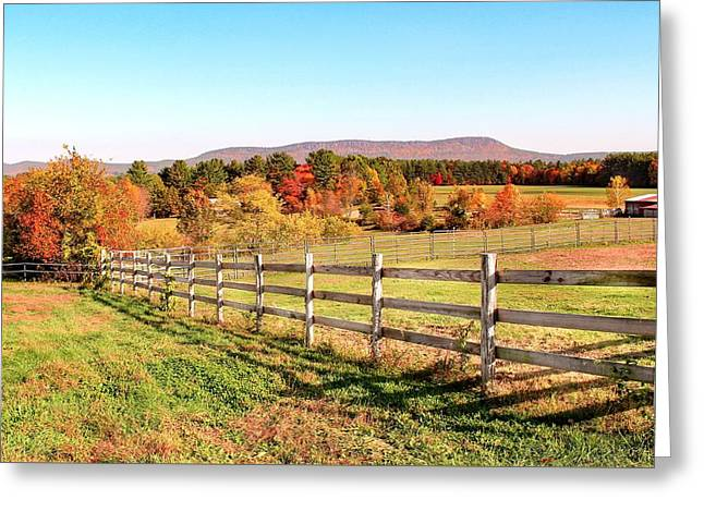 Glendale Road View In The Fall Greeting Card
