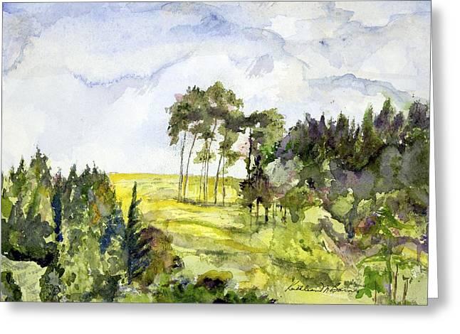 Glendalough Hillside Greeting Card
