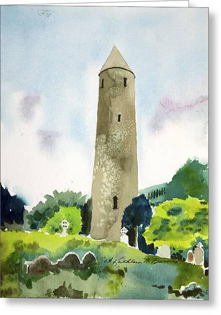 Glendalough Tower Greeting Card