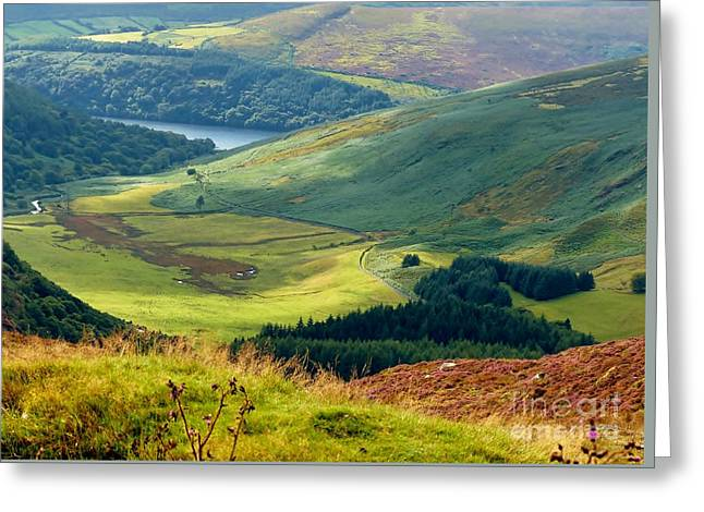 Glendalough Valley, County Wicklow Greeting Card