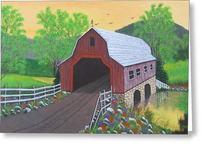 Glenda's Covered Bridge Greeting Card