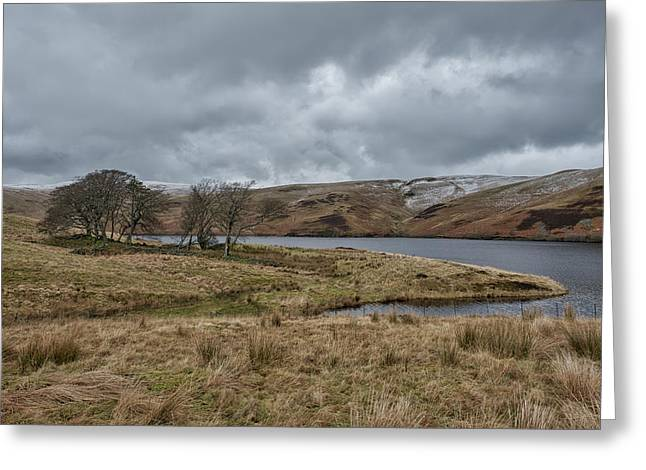 Greeting Card featuring the photograph Glendevon Reservoir In Scotland by Jeremy Lavender Photography