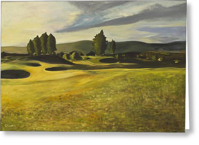 Gleneagles Queens Course Greeting Card