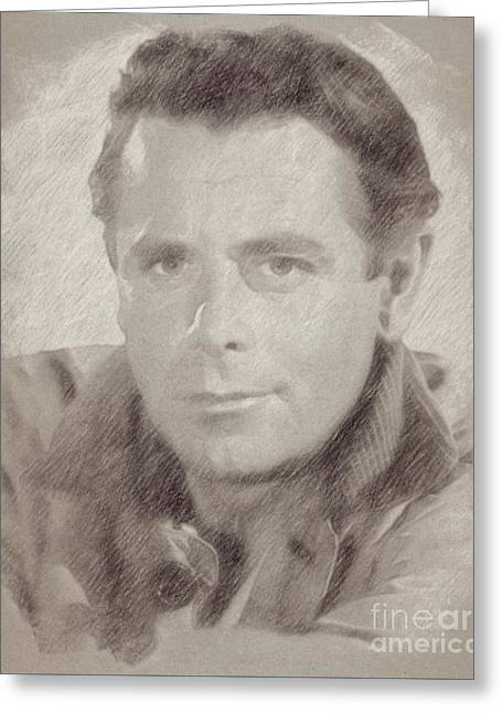 Glenn Ford Hollywood Actor Greeting Card by Frank Falcon