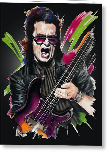 Glenn Hughes Greeting Card by Melanie D