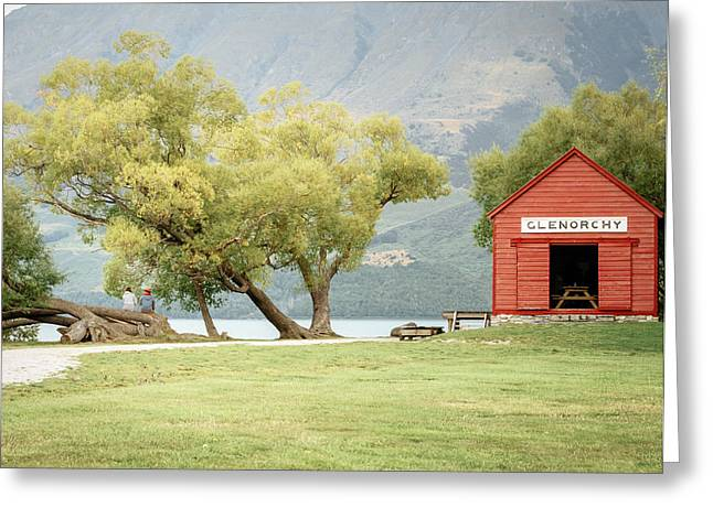 Glenorchy Boathouse Greeting Card