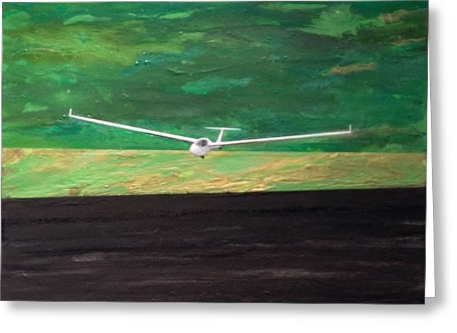 Glider Greeting Card by Ivy Stevens-Gupta