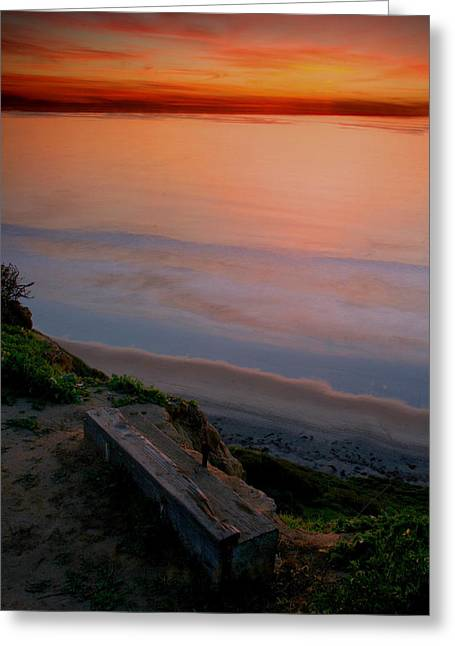 Gliderport Sunset 2 Greeting Card