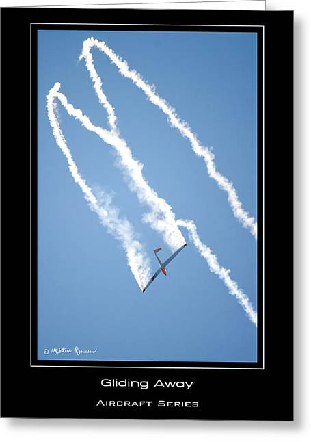 Gliding Away Greeting Card by Mathias Rousseau