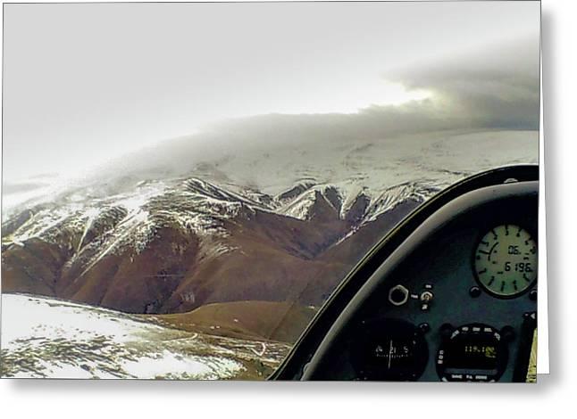 Gliding Greeting Card by Patrick Flynn