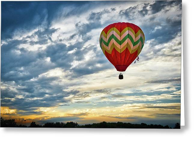 Gliding Through Sunset Greeting Card